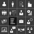 Vector Business Management and Human Resources Icons Set — Stok Vektör