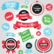 Vector Colorful Stickers Labels and Badges Set — Vector de stock #30109793