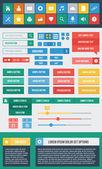 Nowoczesne wektor zestaw elementów interfejsu użytkownika — Wektor stockowy