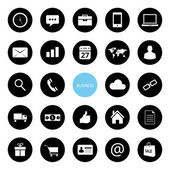 Vector Business and Ecommerce Icons Set — Stock Vector