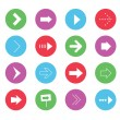 Vector Wonderful Arrows Icons Set 1 — Imagen vectorial