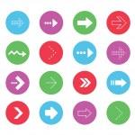 Vector Wonderful Arrows Icons Set 2 — Stock Vector