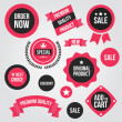 Vector de stock : Stylish Vector Stickers and Ribbons Set