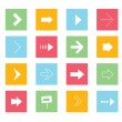 Vector de stock : Vector Arrows Icons Set 1