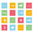 Vector Arrows Icons Set 2 — Stockvectorbeeld