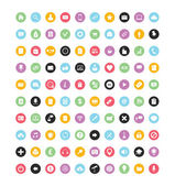100 iconos vector colorido para web y móvil — Vector de stock
