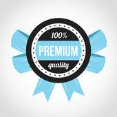 Premium Quality Vector Badge Blue — Stock Vector