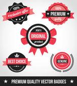 Premium kwaliteit vector badges — Stockvector
