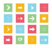 1 vektör okları icons set — Stok Vektör