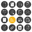 Vector Notepad Paper Documents Icons Set — Stock Vector #30403677