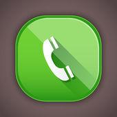 Icono de teléfono vector — Vector de stock