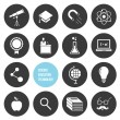 Stock vektor: Vector Science Education and Technology Icons Set