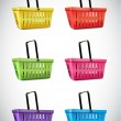 Plastic Basket Set — Stockvectorbeeld