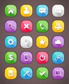 Premium vector icons set — Stok Vektör