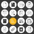 Vector Notepad Paper Documents Icons Set — Stock Vector