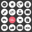 Vector Shopping and Ecommerce Icons Set — Stock Vector