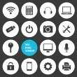 Vector Tools Devices and Technology Icons Set — Imagen vectorial