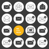Vector Ecommerce Business Shopping and Other Icons for Email — Vettoriale Stock