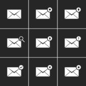 Vector Envelope Icons Set — Stock Vector