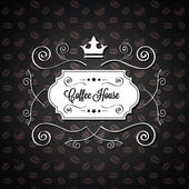 Vector Menu for Restaurant Cafe or Coffee House with a Black Brown Background — Vettoriale Stock