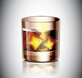 Glass Of Whiskey — Stock Vector