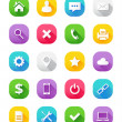 Modern Vector Icons Set for Web and Mobile — Stock Vector