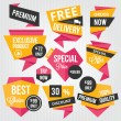 Vector de stock : Premium Vector Sale Badges and Labels