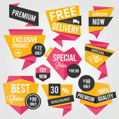 Premium Vector Sale Badges and Labels — Vecteur
