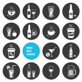 Vector dranken icons set — Stockvector