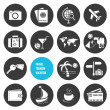 Stock vektor: Vector Travel and Tourism Icons Set