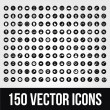 150 Universal Vector Icons for Mobile and Web — Vector de stock #32201009