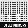150 Universal Vector Icons for Mobile and Web — Vettoriali Stock
