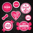 Vector Holiday Sale Badges Labels and Stickers — Stock Vector