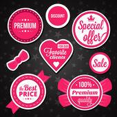 Etiketler ve stickerlar vektör tatil satış rozetleri — Stok Vektör