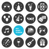 Vector Party Icons Set — Vettoriale Stock