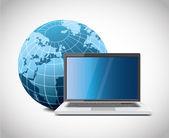 ícone de monitor de terra — Vetorial Stock
