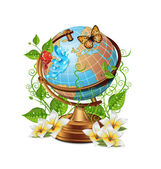 Nature Globe Icon — Stock Vector