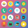 Vector de stock : Trendy Premium Flat Icons for Web and Mobile Applications Set 3