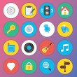 Cтоковый вектор: Trendy Premium Flat Icons for Web and Mobile Applications Set 5