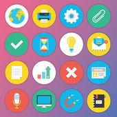 Trendy Premium Flat Icons for Web and Mobile Applications Set 2 — Stock vektor