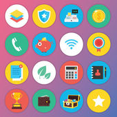 Trendy Premium Flat Icons for Web and Mobile Applications Set 3 — Stok Vektör