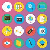 Web およびモバイル アプリケーションのトレンディなプレミアム フラット アイコン セット 4 — ストックベクタ