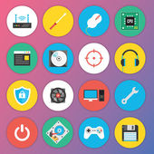 Trendy Premium Flat Icons for Web and Mobile Applications Set 7 Special Hardware Set — Stock vektor