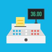 Vector Cash Register Icon — Stock Vector