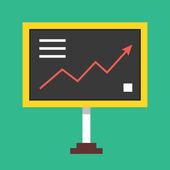 Vector Diagram Board Icon — Stock Vector