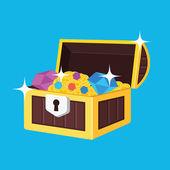 Vector Treasure Chest Icon — Stock Vector