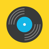 Vector Vinyl Record Icon — Vettoriale Stock