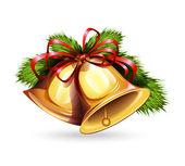 Noel çanları simgesi — Stok Vektör