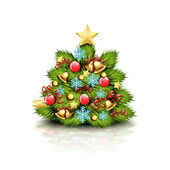 Kerstboom — Stockvector