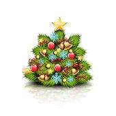 árbol de navidad — Vector de stock